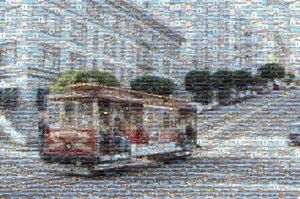 San Francisco Cable Car Mosaic