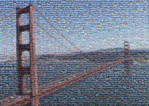 Golden Gate Bridge Mosaic