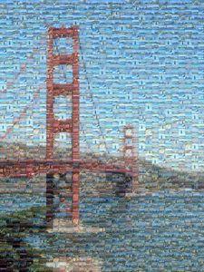 San Fran Golden Gate Bridge Mosaic