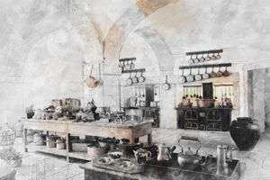 Old kitchen in Lisbon