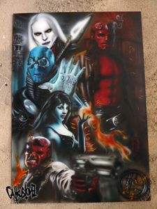 Hellboy movie themed painting