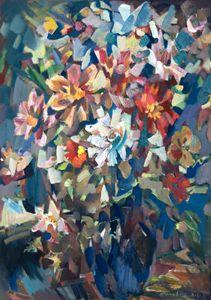 Bouquet Near The Window - Nikolay Malafeev