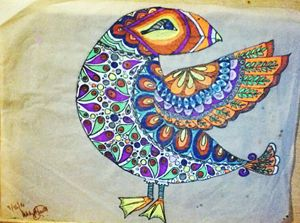 Bird of a colorful mind