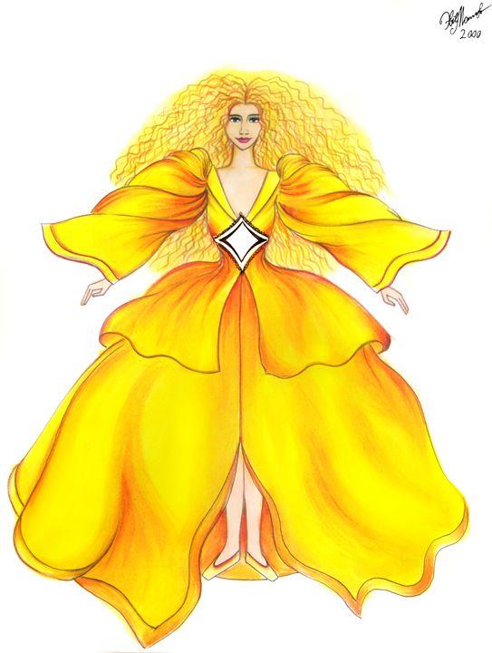 Baltic sun-lady. Fashion sketch - Sofia Goldberg's Gallery