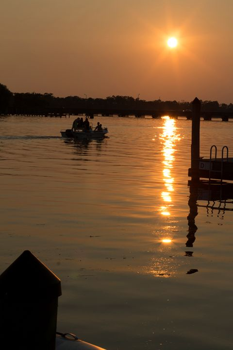 Sunset Boaters - Klacey's Photography