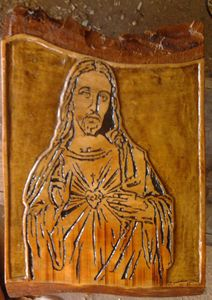 Jesus Christ carved by hand