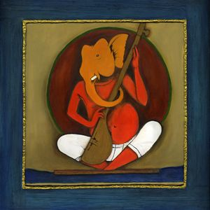 Ganesha with his strings