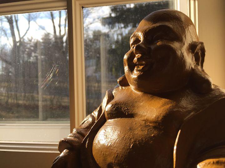 Buddha by a Window - Brogan Fine Art