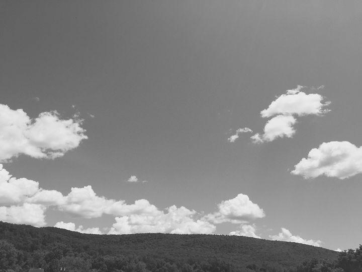 Cloudy sky in black and white - Brogan Fine Art