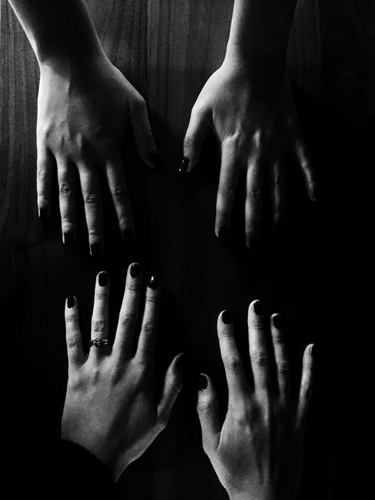 Hands in the dark - Brogan Fine Art