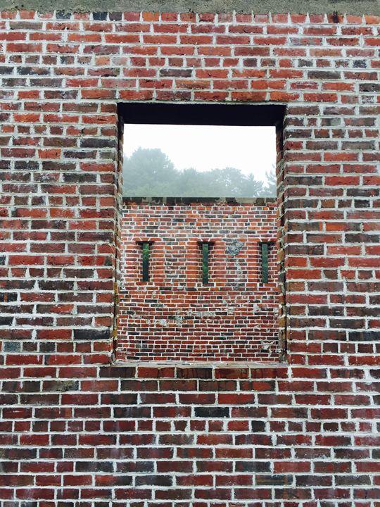 Surreal Brick Building - Brogan Fine Art
