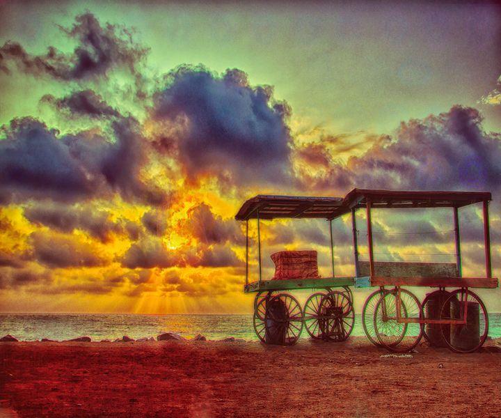 Sunrise in Pondicherry - HDR