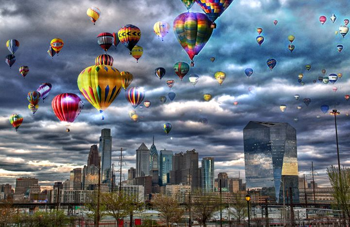 Hot Air Ballon Fest in Philly - HDR