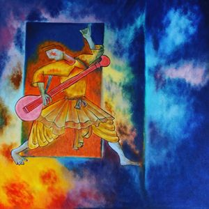 Folk Dance Abstract Painting