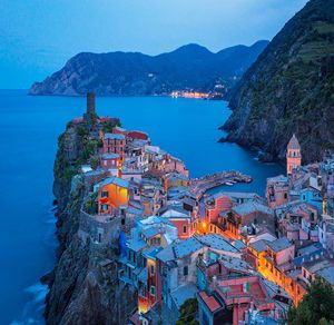 Sunset On Vernazza Village