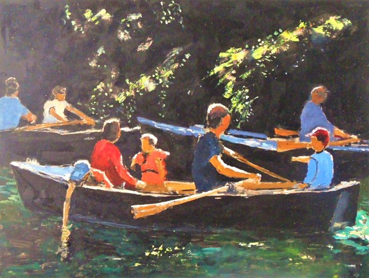 Rowing on the river - Riverview Gallery