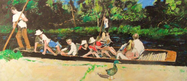 Sunday on boats - Riverview Gallery