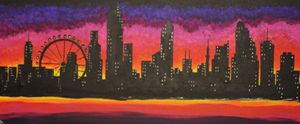 Sunset in the City of Dreams
