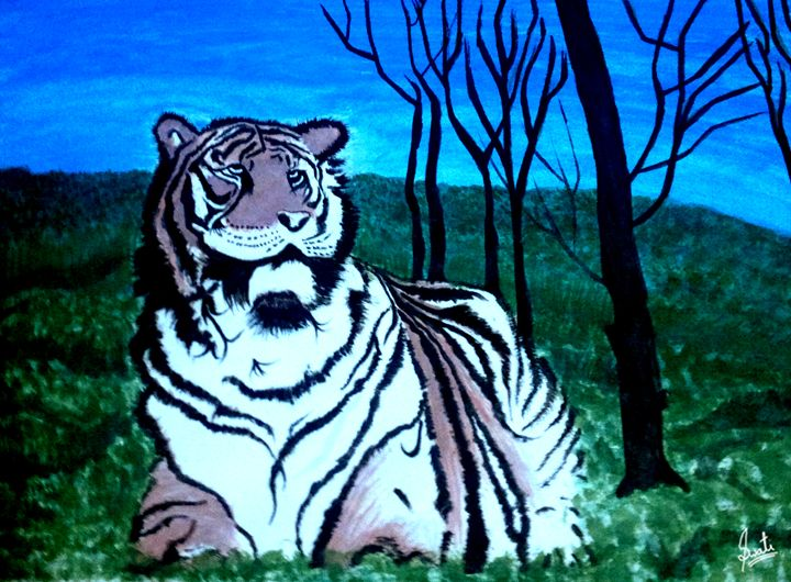 Tiger in Forest - Magical Art World