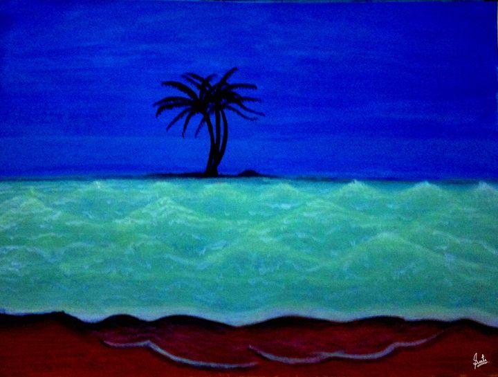 Glowing Wave art seascape - Magical Art World