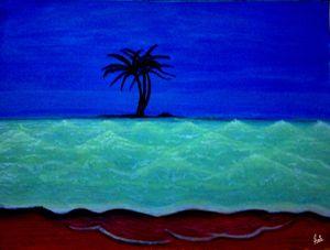 Glowing Wave art seascape