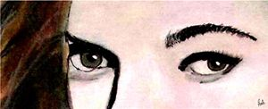 Stunning Realistic Eyes Portrait