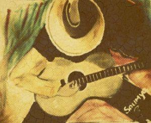 lonely guitarist