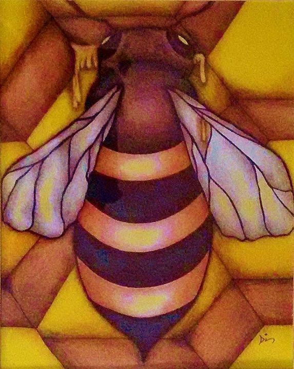 Honeycomb Bee - dianestudio