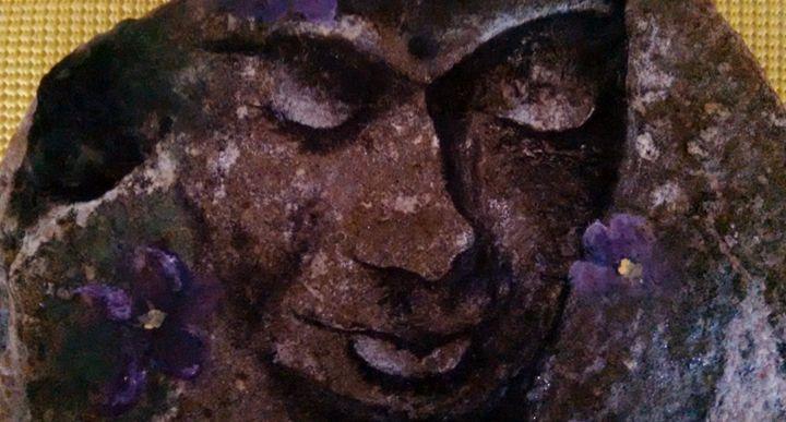 acrylic on stone - dianestudio