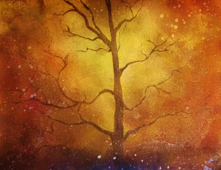 brown tree abstract - dianestudio