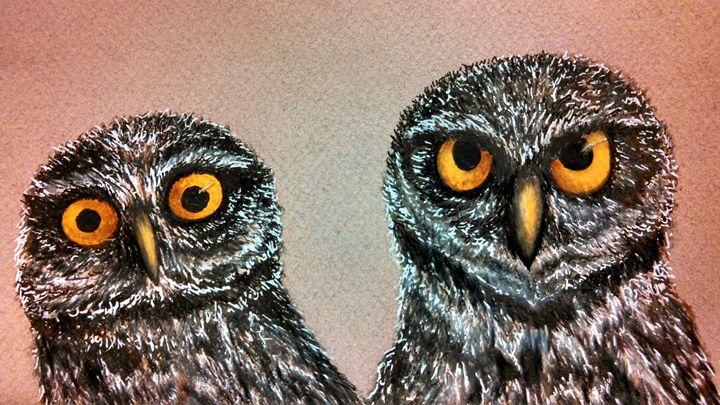 two owls detail - dianestudio