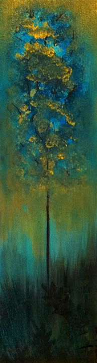 "blue tree 6""x18"" - dianestudio"