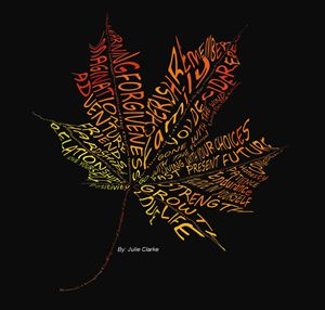Leaf with meaning