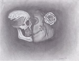 Her & Him Kissing Skulls