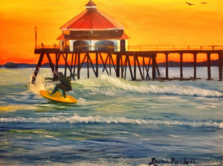 Sunset Surfing - Laurie Ann Marshall