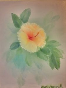 Hibiscus in the Mist - Laurie Ann Marshall