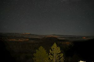 Night in the canyon