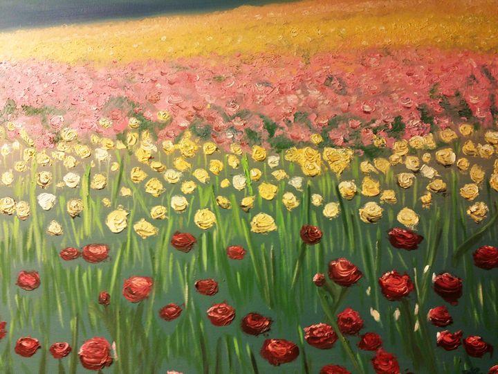 Flower fields - Laurie Ann Marshall