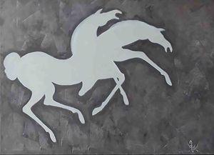 Hand-painted Horses by Mamuka.
