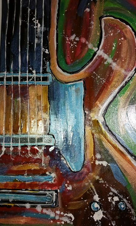 My Guitar - kristy's Art Shed
