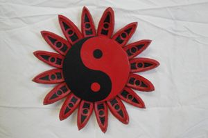 Red Ying Yang Flower