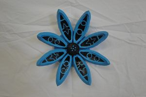 Blue Seed Pod Flower