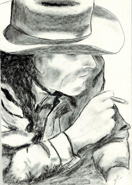 Cowboy - Dotti's Art...as is
