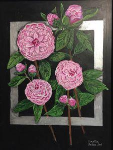 Camellias - Art by Barbara Saul