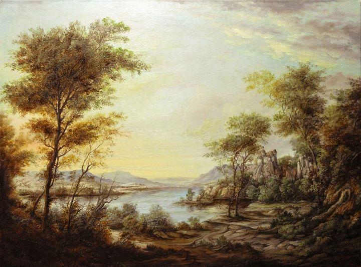 Dan Scurtu - Landscape at Dusk - Dan Scurtu
