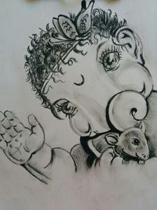 Baal Ganesh Sketch