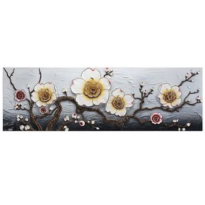 3D embossed flower painting