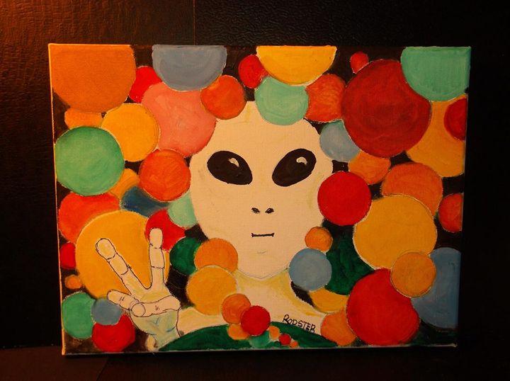 Peace Alien No 4 - Rodster Art