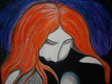 Gazing Woman 11x14 Original