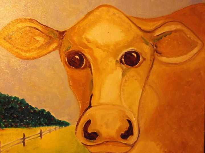 Jersey Cow - Rodster Art